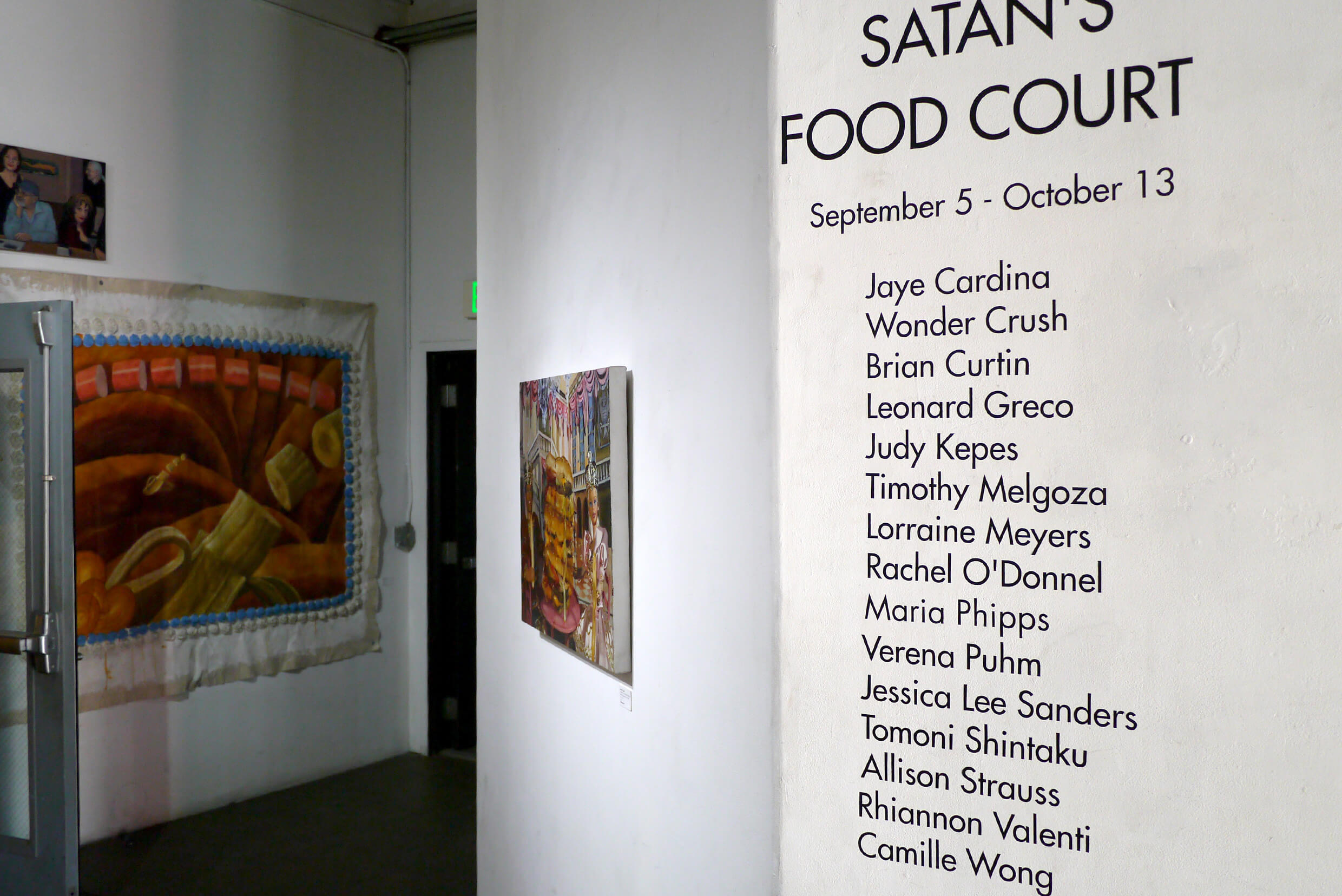 Exhibition view of Group Exhibition Satan's Food Court Art Share L.A(Los Angeles) Sept 7-Oct 13, 2019