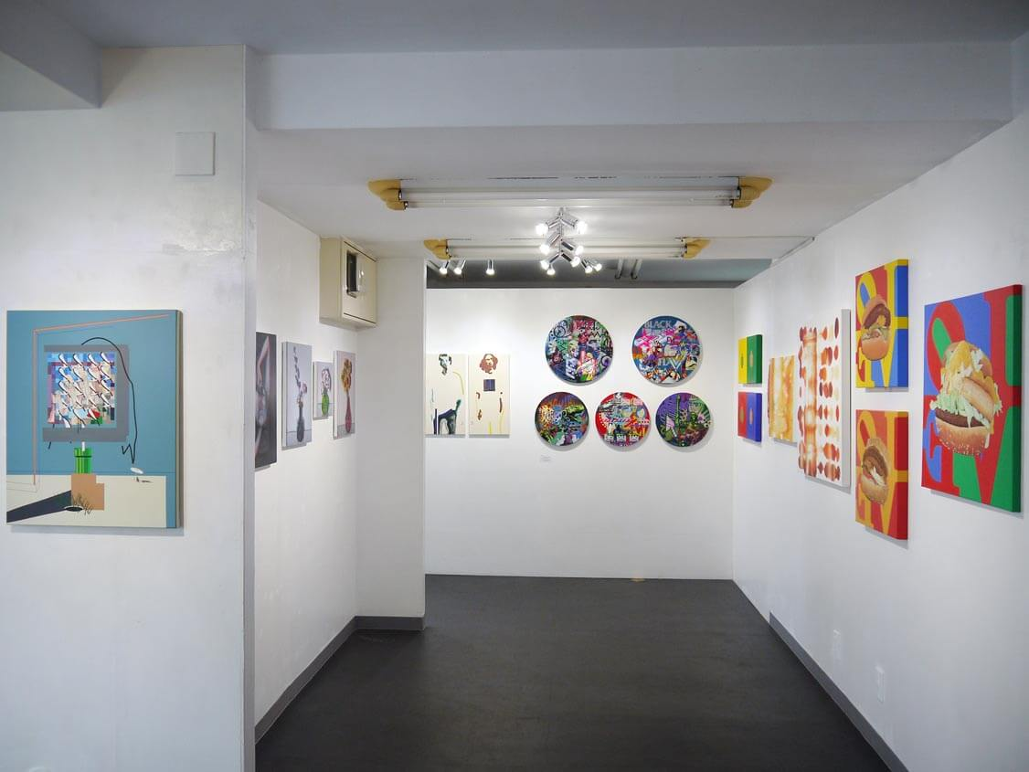 The view of Group Exhibition 'MIND THE GAP' THE blank GALLERY(Tokyo) Sept 19-Oct 4, 2020