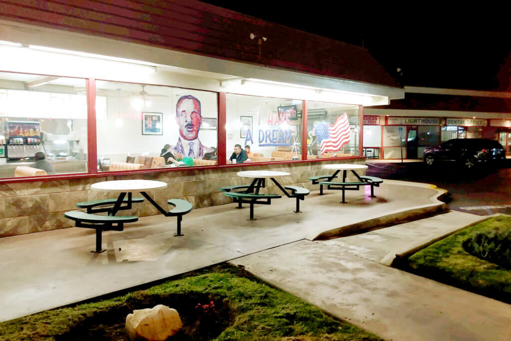 Restaurant, night, USA, Martin Luther King