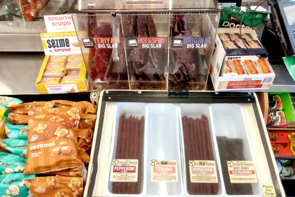 Selling Beef Jerkys at The US Convenience Store