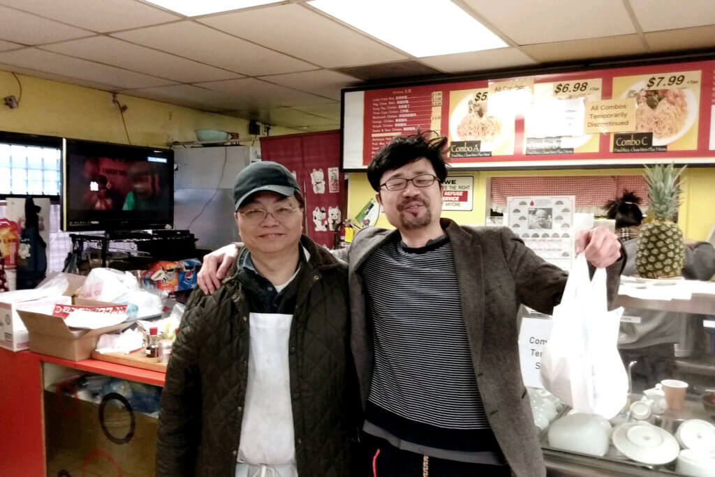 A Commemorative Photo at Taiwanese Restaurant with a Chef and a Painter