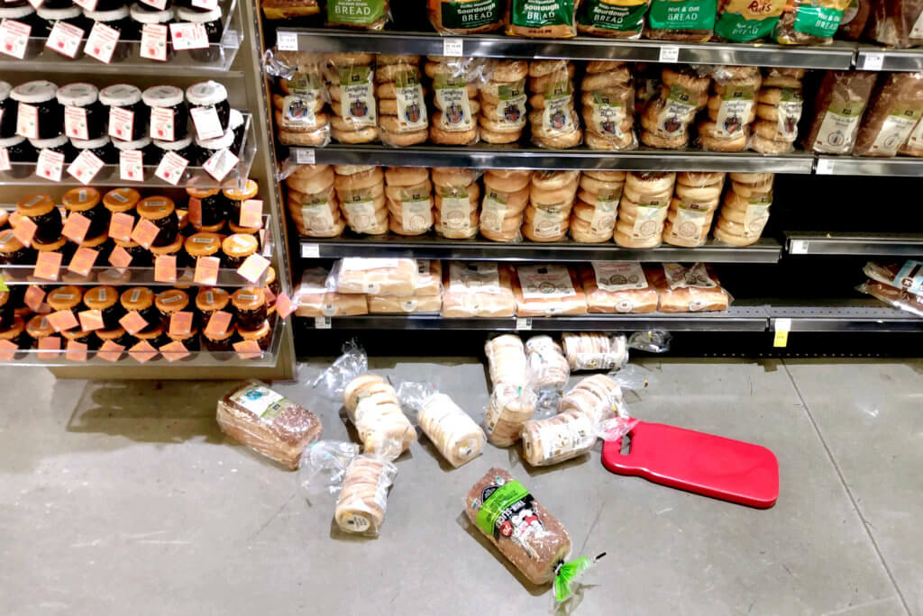 Dropped bread at whole foods Supermarket in Los Angeles