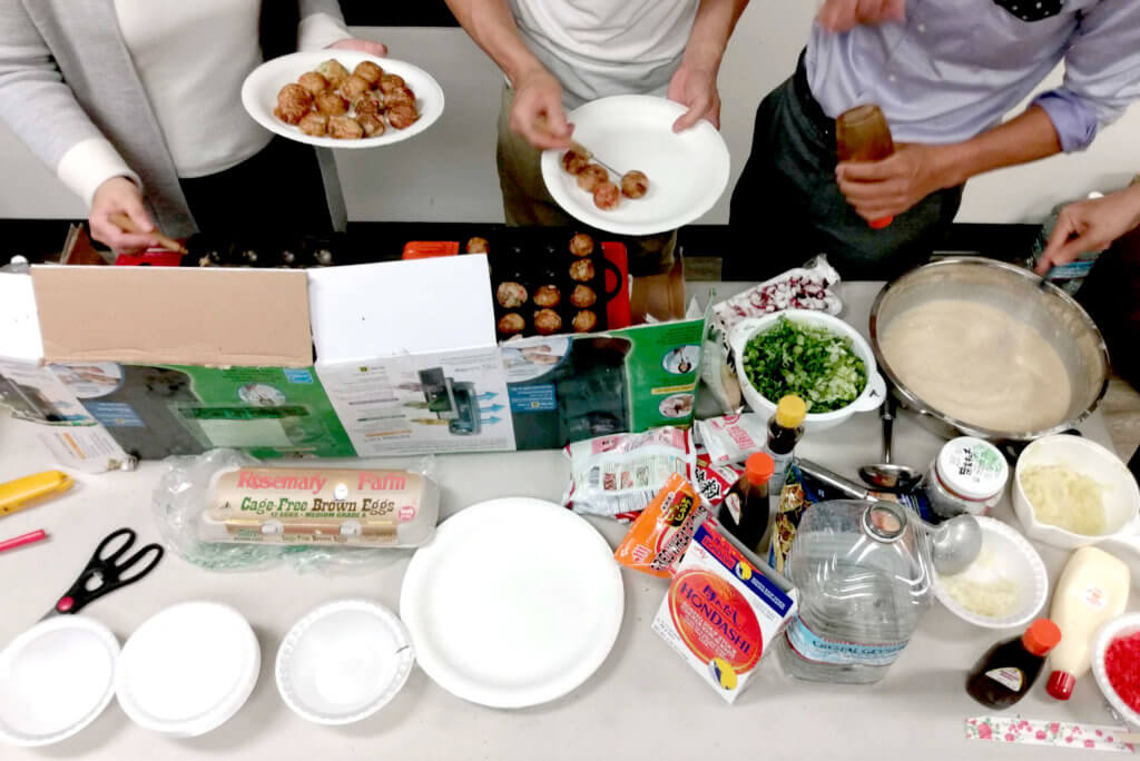 Takoyaki party at Japanese IT company in the US