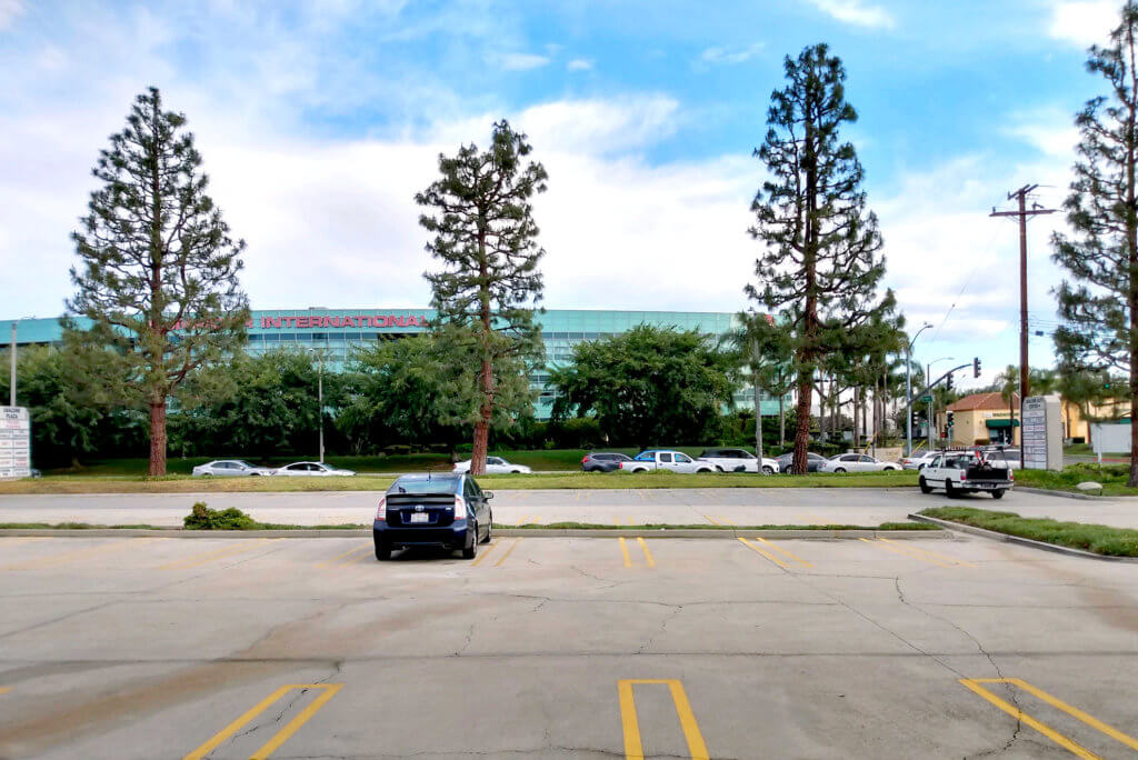 View of parking at company complex in Torrance