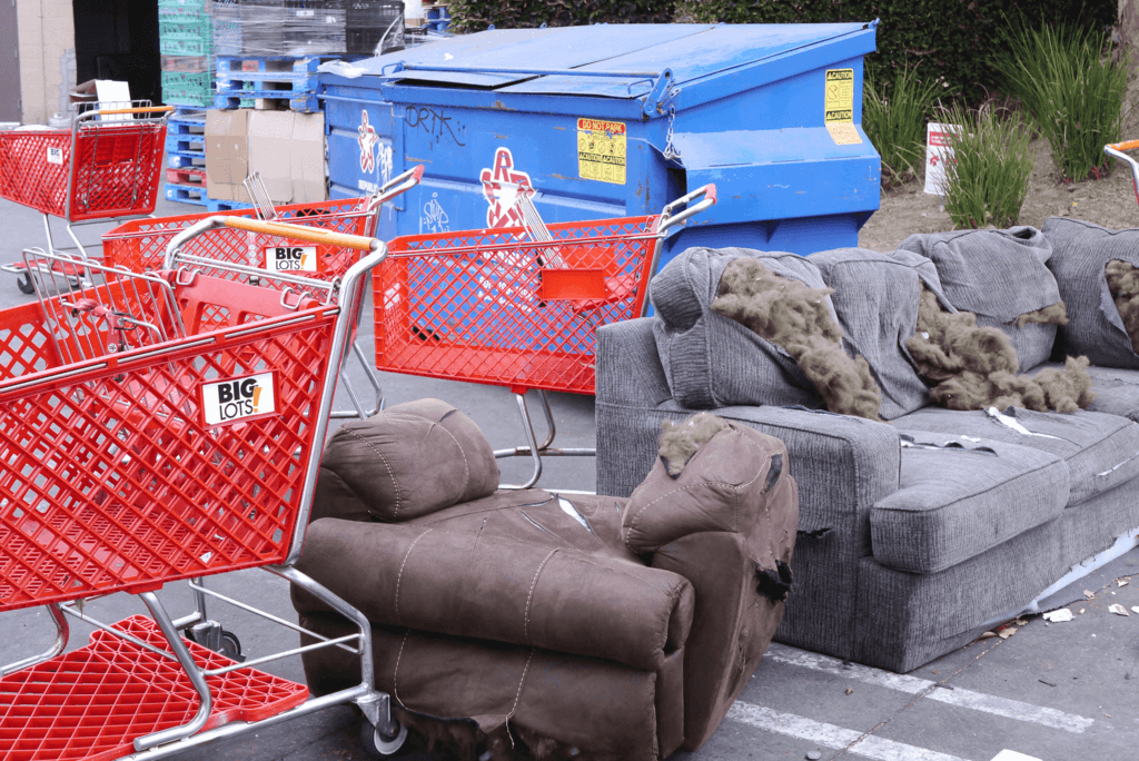 shopping-carts-tore-sofa-at-the-carpark-in-torrance