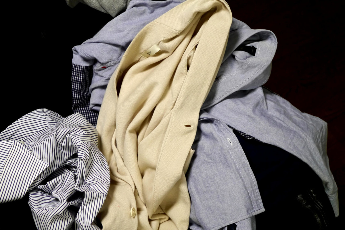 New and old clothes