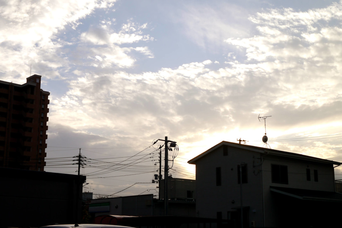 Sky in the evening in Japan