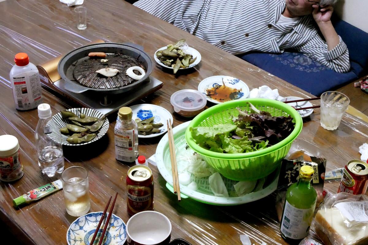 After eating yakiniku at home in Hiroshima Japan