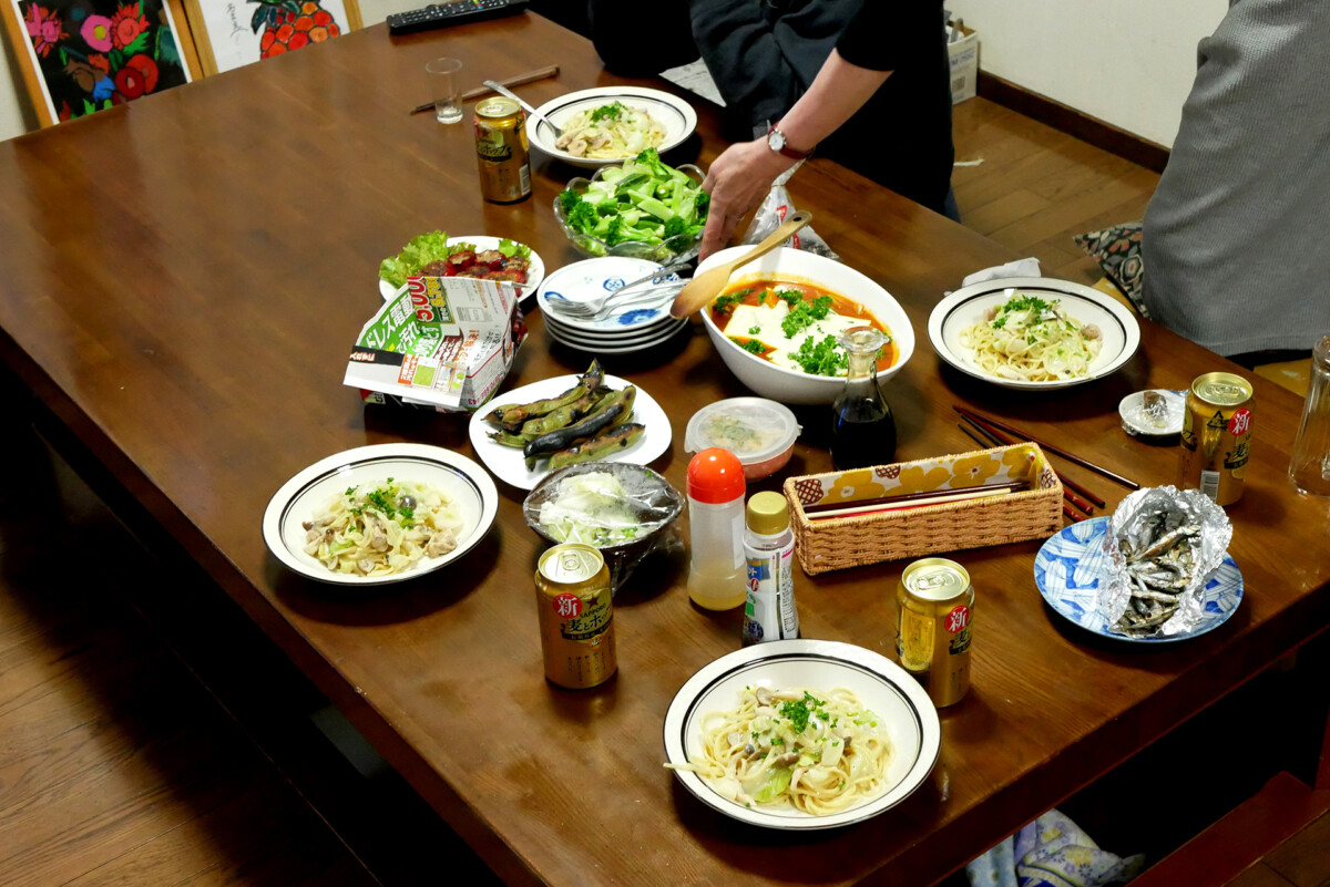 Japanese hand-made dinner on the table in Hiroshima Japan