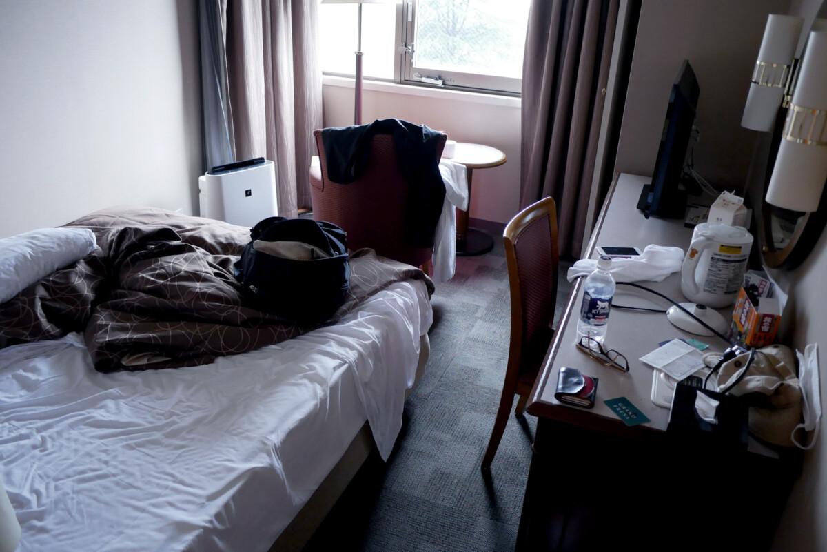 Sotetsu Grand Fressa hotel room in the morning in Hiroshima Japan