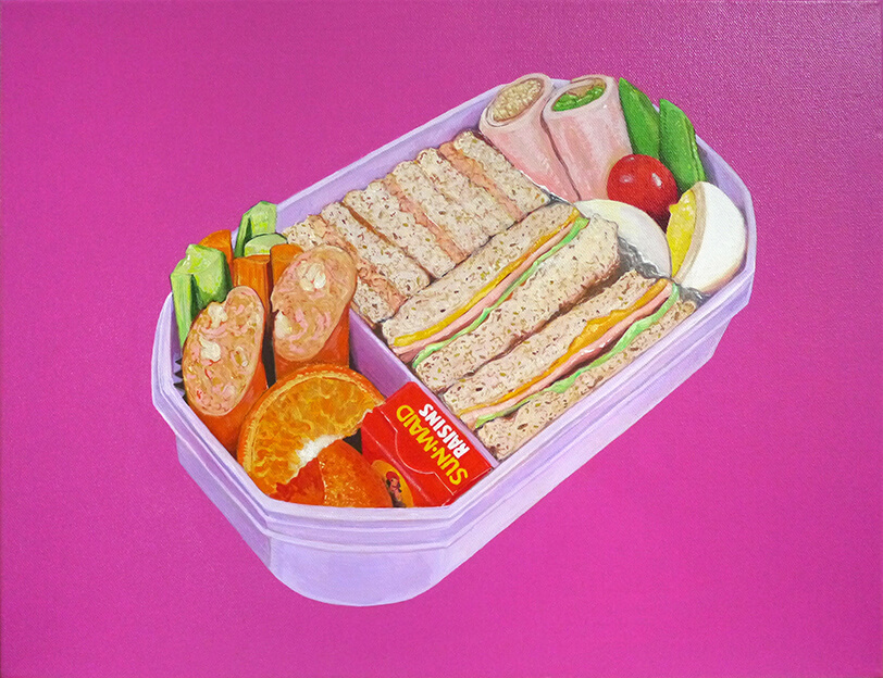 弁当シリーズの絵画作品